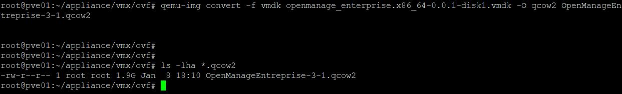Proxmox - Convert VMDK to QCOW2