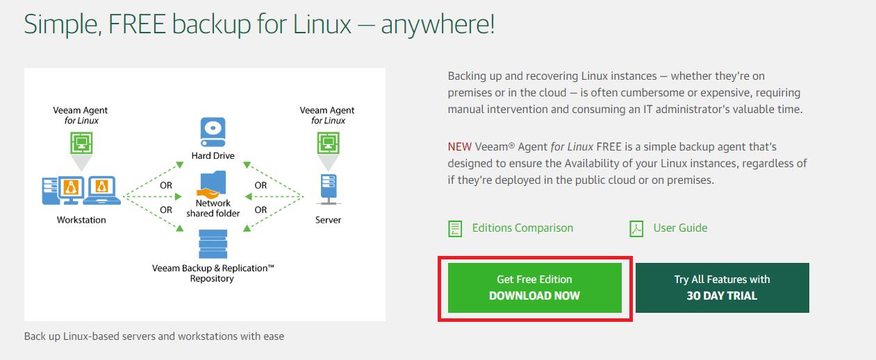 Veeam Agent Linux 3 0 installation for BTRFS